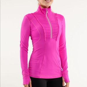 Lululemon Run Your Heart 1/2 Zip Pullover Top